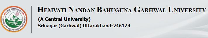 Bahuguna University (HNB) Sem PG Exam Admit Card 201