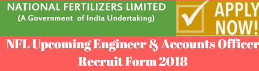 NFL Upcoming Engineer & Accounts Officer Recruit Form 2018