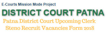 Patna District Court Upcoming Clerk Steno Recruit Vacancies Form 2018
