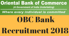 OBC Bank Recruitment 2018