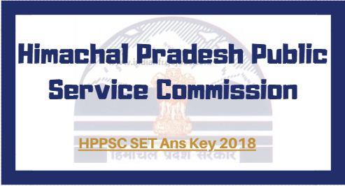 HPPSC SET Ans Key 2018