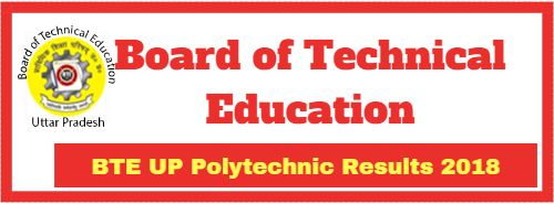 BTE UP Polytechnic Results 2018