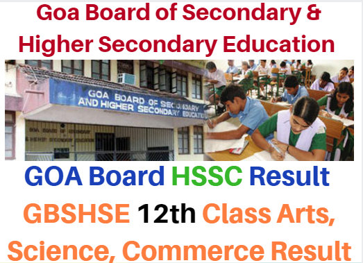Goa Board 12th Class Annual Exam Result 2019