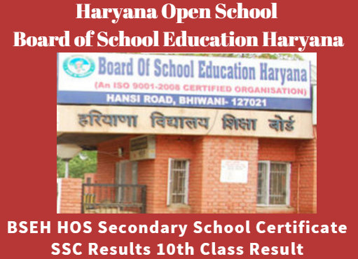 Haryana Open School 10th Class Result 2020