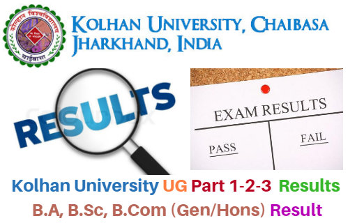 Kolhan University Part 1 2 3 Result 2018