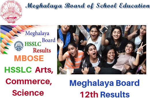 Meghalaya Board 12th Class Result News 2018 ~ MBOSE HSSLC (Arts-Commerce-Science) Result