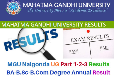 MGU Nalgonda Part 1-2-3- Result News 2018 BA-B.Sc-B.Com