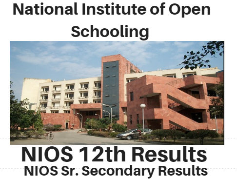NIOS 12th Class Result 2017 SR Secondary Arts-Science-Commerce Result Notice~