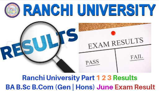 Ranchi University Results June 2018