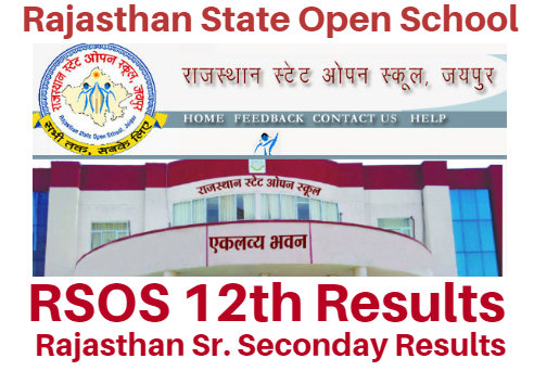 Raj Open School 12th Result 2018, RSOS Sr Secondary (Arts| Commerce| Science) Result Notice !!