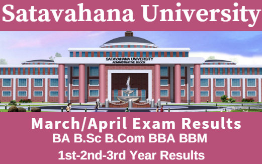 Satavahana University 1st-2nd-3rd Year Result News ~ 2017 BA B.Sc B.Com