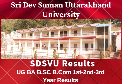 SDSUV 1st-2nd-3rd Year Results 2020