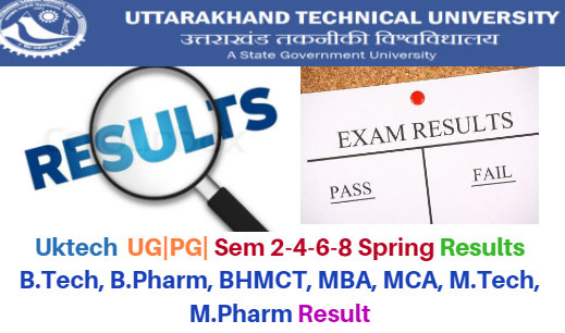 UKTECH 2nd-4th-6th Semester Result 2018