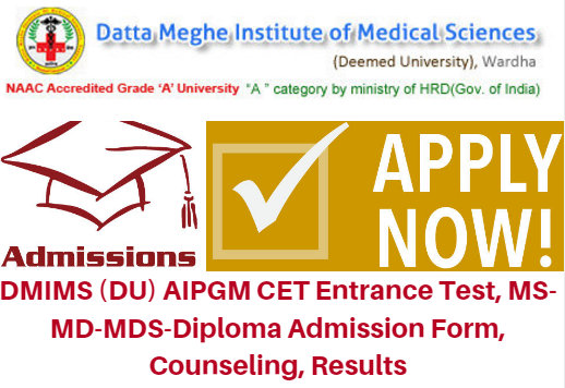 DMIMS AIPGM CET Entrance Test 2017 Application Form | Counseling Results