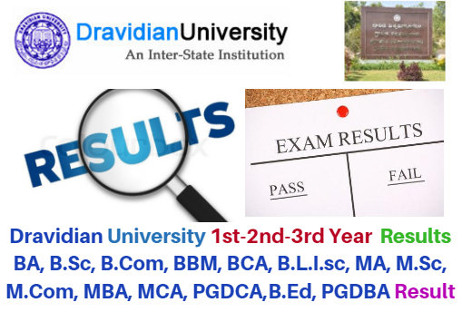 Dravidian University 1st 2nd 3rd Year Result Date 2017 UG / PG