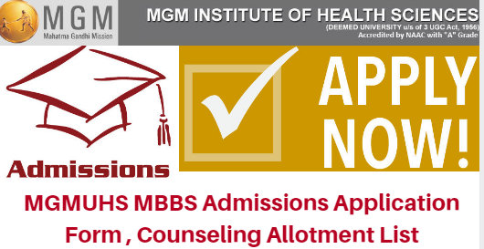 MGMUHS MBBS Admissions 2017 Counseling Allotment list