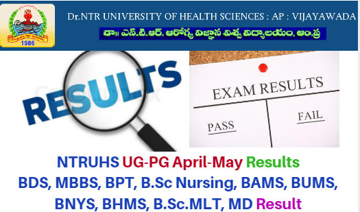 NTRUHS Results in 2017 UG/PG