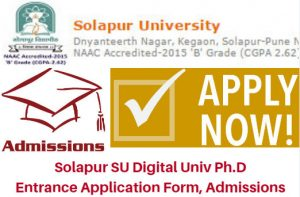 Solapur University Phd Entrance Test 2017 Admissions Form | Counseling Results