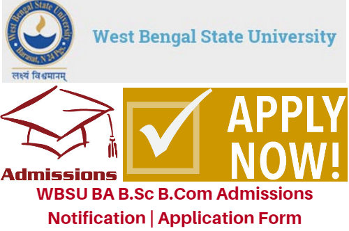 WBSU BA B.Sc B.Com Admissions 2017 Notification | Application Form