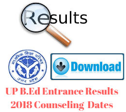 UP B.Ed Entrance Results 2018 Counseling Dates