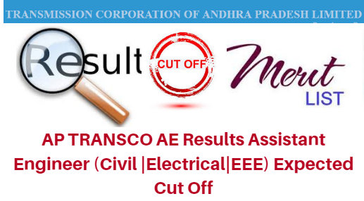 AP Transco AE (Civil|Electrical|EEE) Expected Cut Off 2018