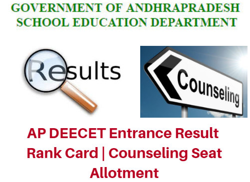 AP DEECET Entrance Result 2018 Rank Card | Counseling Seat Allotment