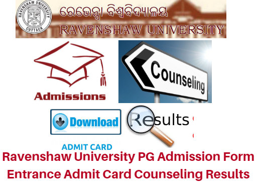 Ravenshaw University PG Admission Form 2017 Entrance Test Admit Card | Counseling Results