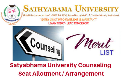 Satyabhama University Counseling 2018