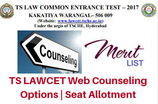 TS LAWCET Web Counseling 2017 Options | Seat Allotment