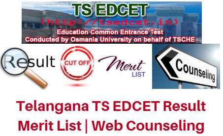 Telangana TS EDCET Result 2017 Merit List | Web Counseling