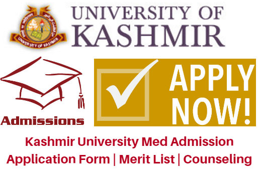Kashmir University Med Admission 2017 Application Form | Merit List | Counseling