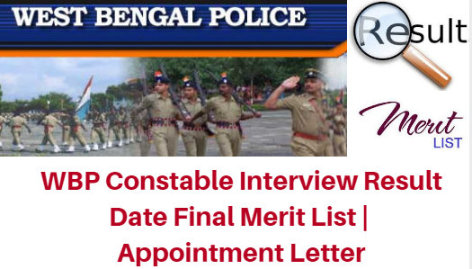 WBP Constable Interview Result Date 2017 Final Merit List | Appointment Letter