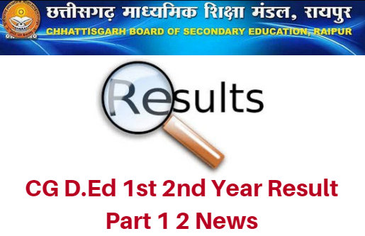 CG D.Ed 1st 2nd Year Result 2020