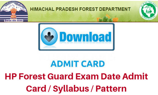 HP Forest Guard / Vanrakshak Admit Card 2018