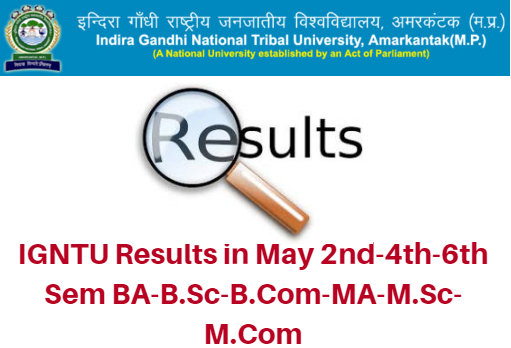 IGNTU Results in May 2017 2nd-4th-6th Sem BA-B.Sc-B.Com-MA-M.Sc-M.Com