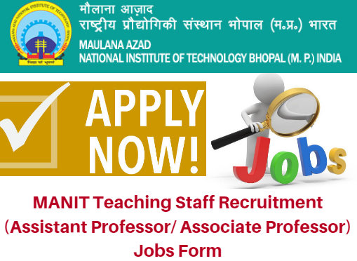 MANIT Teaching Staff Recruitment 2018