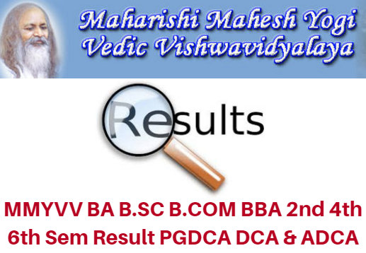 MMYVV BA B.Sc B.Com BBA 2nd 4th 6th Sem Result