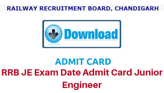 RRB Junior Engineer Exam E-Call Letter / Hall Ticket 2018