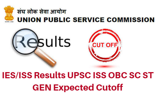 UPSC IES/ISS 2018 Results OBC SC ST Gen