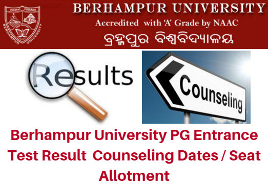 Berhampur University PG Entrance Test Result 2020