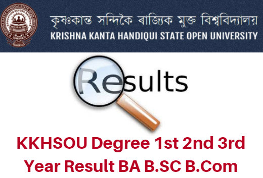 KKHSOU Degree 1st 2nd 3rd Year Result