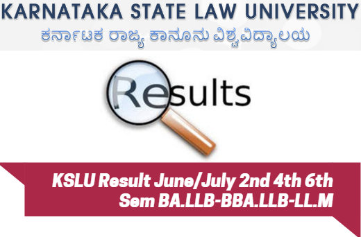 KSLU Result June/July 2nd 4th 6th Sem