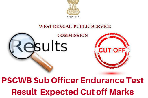 PSCWB Sub Officer Endurance Test Result 2018