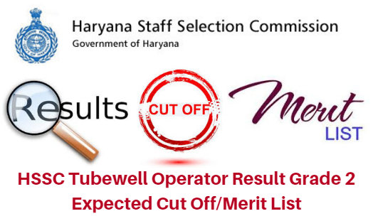 HSSC Tubewell Operator Expected Cut off Marks 2018