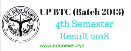 UP BTC 4th Semester Result 2018