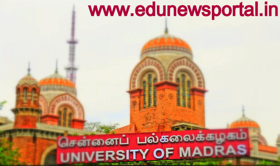 Madras Univ Odd Sem Time Table 2018