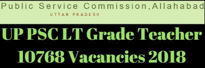 UP PSC LT Grade Teacher 10768 Vacancies 2018