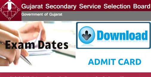 GSSSB Social Welfare Inspector Accountant Clerk Admit Card 2018