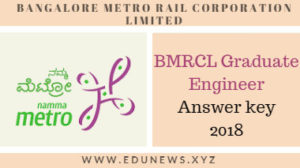 BMRCL Graduate engineer (civil) answer key 2018