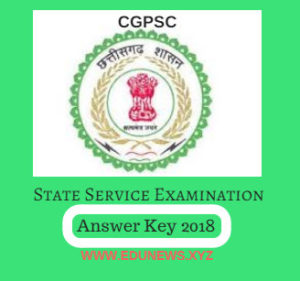 CGPSC State Service Exam Answer Key 2018